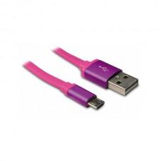 METRONIC CABLE MICRO USB / USB 2.0 FLAT ROSA