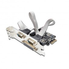 DIGITUS PLACA PCI EXPRESS LOW PROFILE 1P PARALELA + 2P SERIE