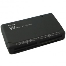 EWENT LEITOR DE CARTOES USB2.0 CARD READER ALL-IN-ONE BLACK