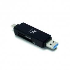EWENT LEITOR DE CARTOES USB3.1 GEN 1 COMPACT ALL-IN-ONE TYPE C/TYPE A