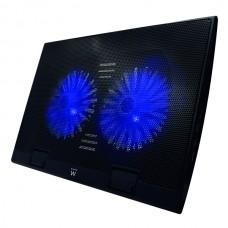 EWENT NOTEBOOK COOLING 17 2 SILENT LED FAN 4 USB