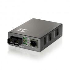 LEVELONE 10/100BASE-TX TO 100BASE-FX MMF ST CONVERTER 2KM