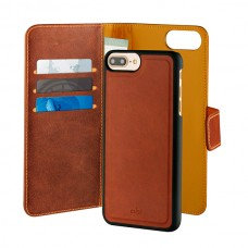 PURO CAPA DUETTO IPHONE PLUS LEATHER 3CARD SLOT MAG DARK BROWN