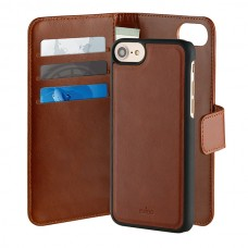 PURO CAPA DUETTO IPHONE PLUS LEATHER 3CARD SLOT MAG BROWN