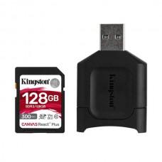 KINGSTON SD 128GB MICRO SDXC REACT PLUS SDCR2 W/ADAPTER + MLPM READER