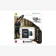 KINGSTON SD 128GB MICRO SDXC CANVAS GO PLUS 170R A2 U3 V30 CARD + ADP