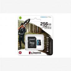 KINGSTON SD 256GB MICROSDXC CANVAS GO PLUS 170R A2 U3 V30 CARD + ADP