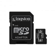 KINGSTON SD 16GB MICRO SDHC 100R A1 C10 CARD C/ADAPT