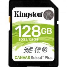 KINGSTON SD 128GB CANVAS SDXC 100R C10 UHS-I U3 V10