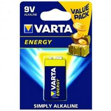 VARTA PILHAS ALCALINAS ENERGY 4122 - 6LR61/9V BLISTER 1 UND