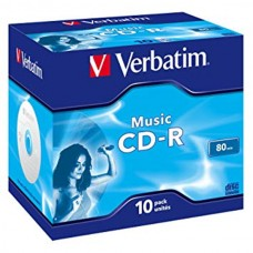 VERBATIM CD-R AUDIO 16X 80MIN PACK 10