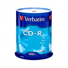 VERBATIM CD-R 52X 700MB 80MIN BOBINE (CAKE) PRINT THERMAL PACK 100