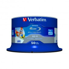 VERBATIM BLU-RAY BD-R 6X 25GB PRINTABLE BOBINE (CAKE) PACK 50