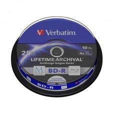VERBATIM M-DISC BD-R 25GB 4x BLUE RAY BOBINE (CAKE) PACK 10