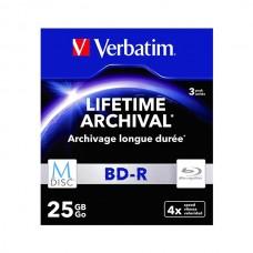 VERBATIM M-DISC BD-R 25GB 4x BLUE RAY CAIXA SLIM PACK 3