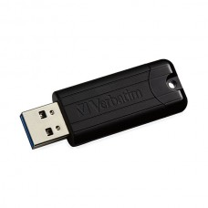 PEN VERBATIM 128GB USB 3.0 PINSTRIPE BLACK
