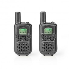 NEDIS WALKIE TALKIE VOX 8 CANAIS 5KM PACK 2 UNID BLACK