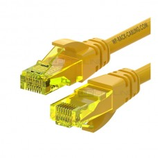 WP RACK CHICOTE PATCH CABLE CAT6 UTP AWG 26/7 YELLOW- 0.5MT