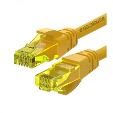 WP RACK CHICOTE PATCH CABLE CAT6 UTP AWG 26/7 YELLOW - 1MT
